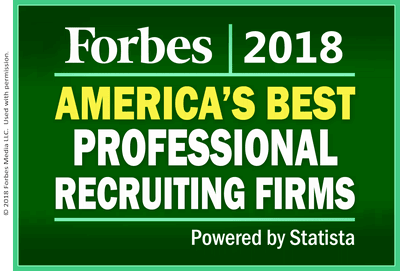 2018 Forbes America's Best Professional Search Firms Badge